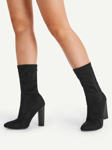 Wide Fit High Heeled Boots