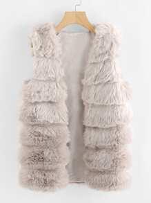 Cappotto veste in pelliccia sintetiche