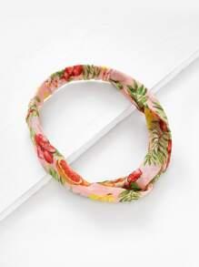 Grapefruit Print Twist Headband