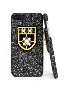 Shield Detail Sequin Overlay iPhone Case