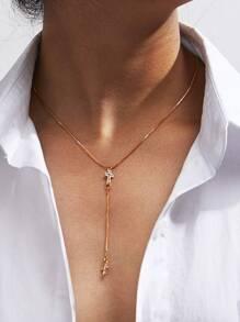 Cross Pendant Y Necklace