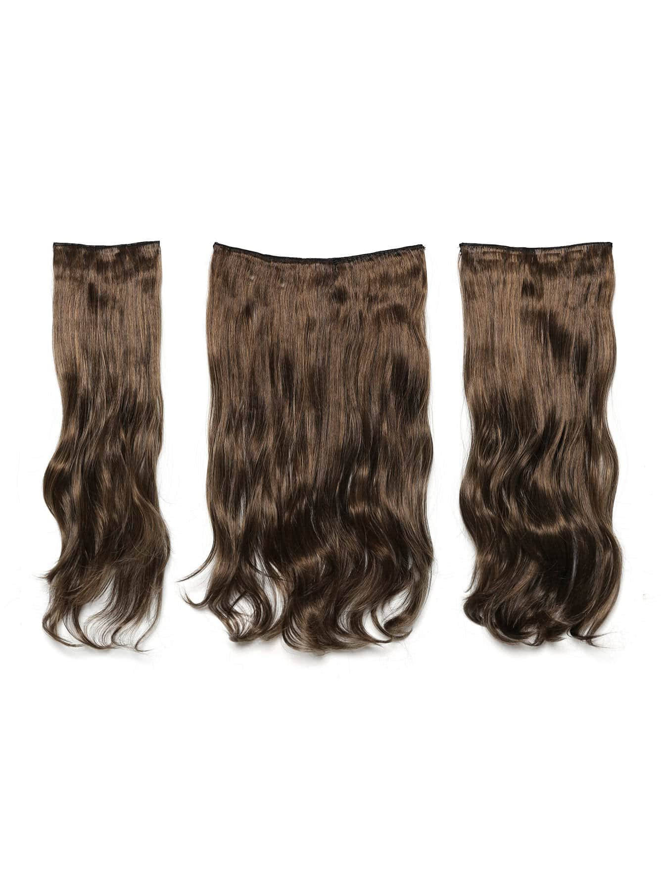 все цены на Dark Brown & Caramel Clip In Soft Wave Hair Extension 3pcs онлайн