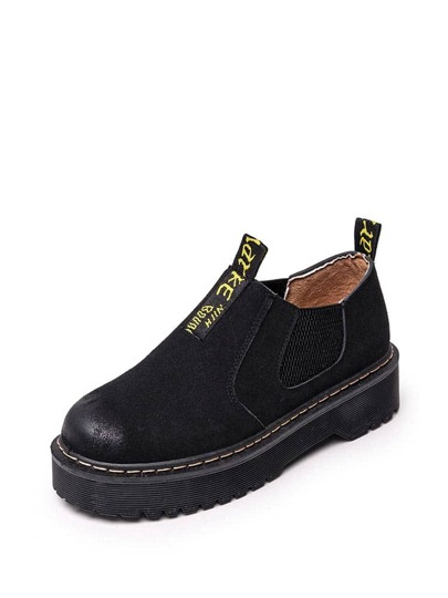 Suede Low Top Elastic Boots