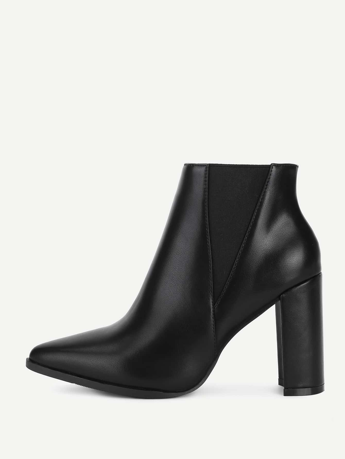 Back Block Heeled PU Ankle Boots лонгслив спортивный under armour under armour un001egojl01