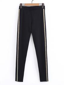 Metallic Sequin Tape Pants