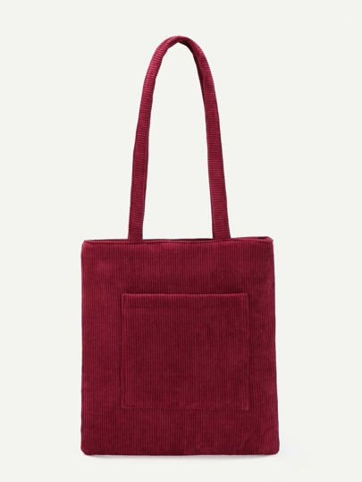 Bolso shopper de pana