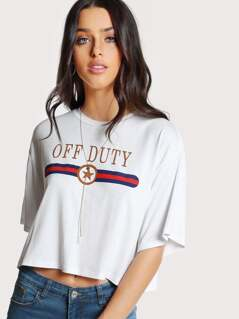 Graphic Crop Boxy Tee