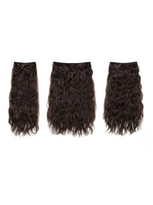 Black Cherry Clip In Curly Hair Extension 3pcs