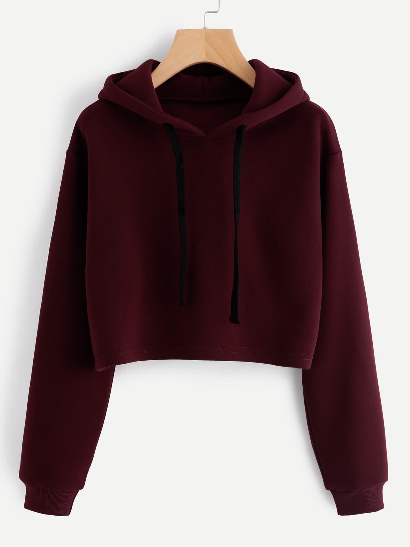 Hooded Drawstring Cashmere Sweatshirt alien print drop shoulder hooded drawstring sweatshirt