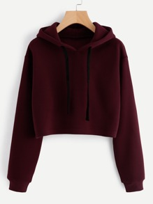Hooded Drawstring Cashmere Sweatshirt
