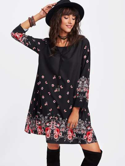 Flower Print Tunic Dress