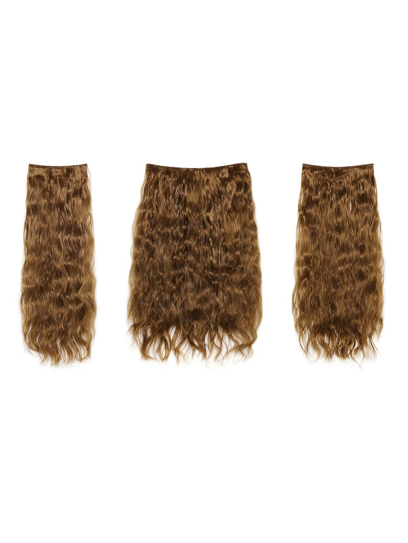 Mix Auburn Clip In Curly Hair Extension 3pcs