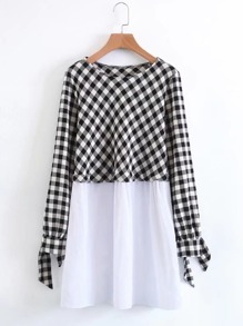 2 In 1 Gingham Smock Dress