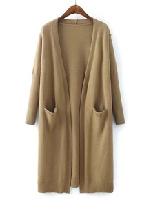Front Pocket Longline Cardigan