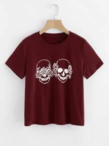 T-shirt imprimé crâne