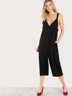Sleeveless Tie Up Jumpsuit BLACK