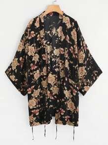 Kimono stampato botanico
