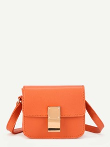 Flap Crossbody Bag With Adjustable Strap
