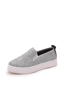 حذاء رياضي جذاب مرقمط برمادي وابيض
