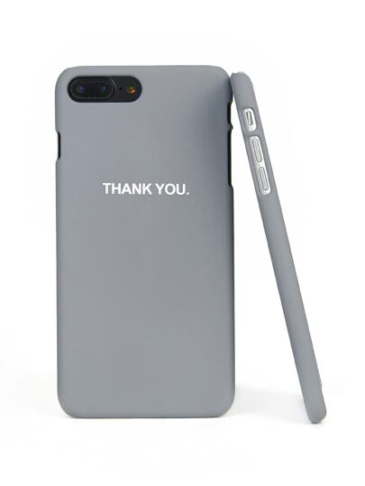 Letter Print iPhone Case