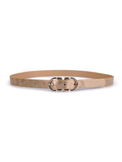 Double Buckle Skinny Belt