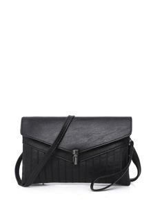 Buckle Decorated Envelop Shoulder Bag