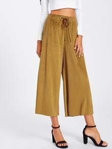 Ribbed Wide Leg Pants