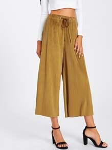Pantalons jambe large côtelé