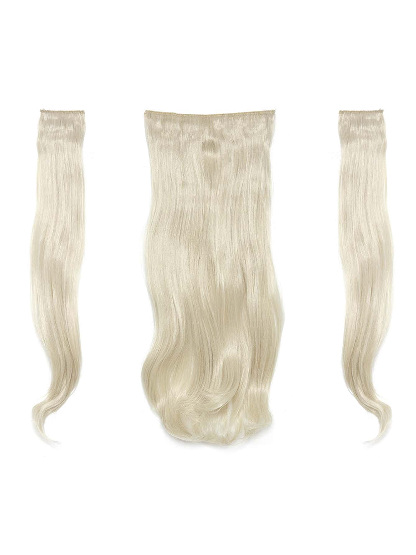 Pure Blonde Clip In Soft Wave Hair Extension 3pcs light blonde clip in soft wave hair extension 5pcs