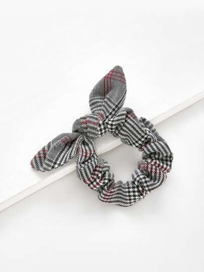 Knot Plaid Hair Tie