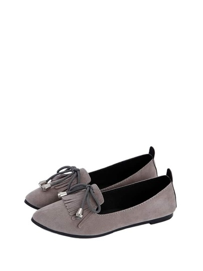 Bow Tie Detail Point Toe Flats