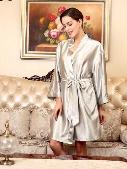 Satin Self Tie Robe