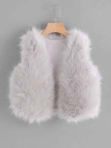 Faux Fur Crop Vest
