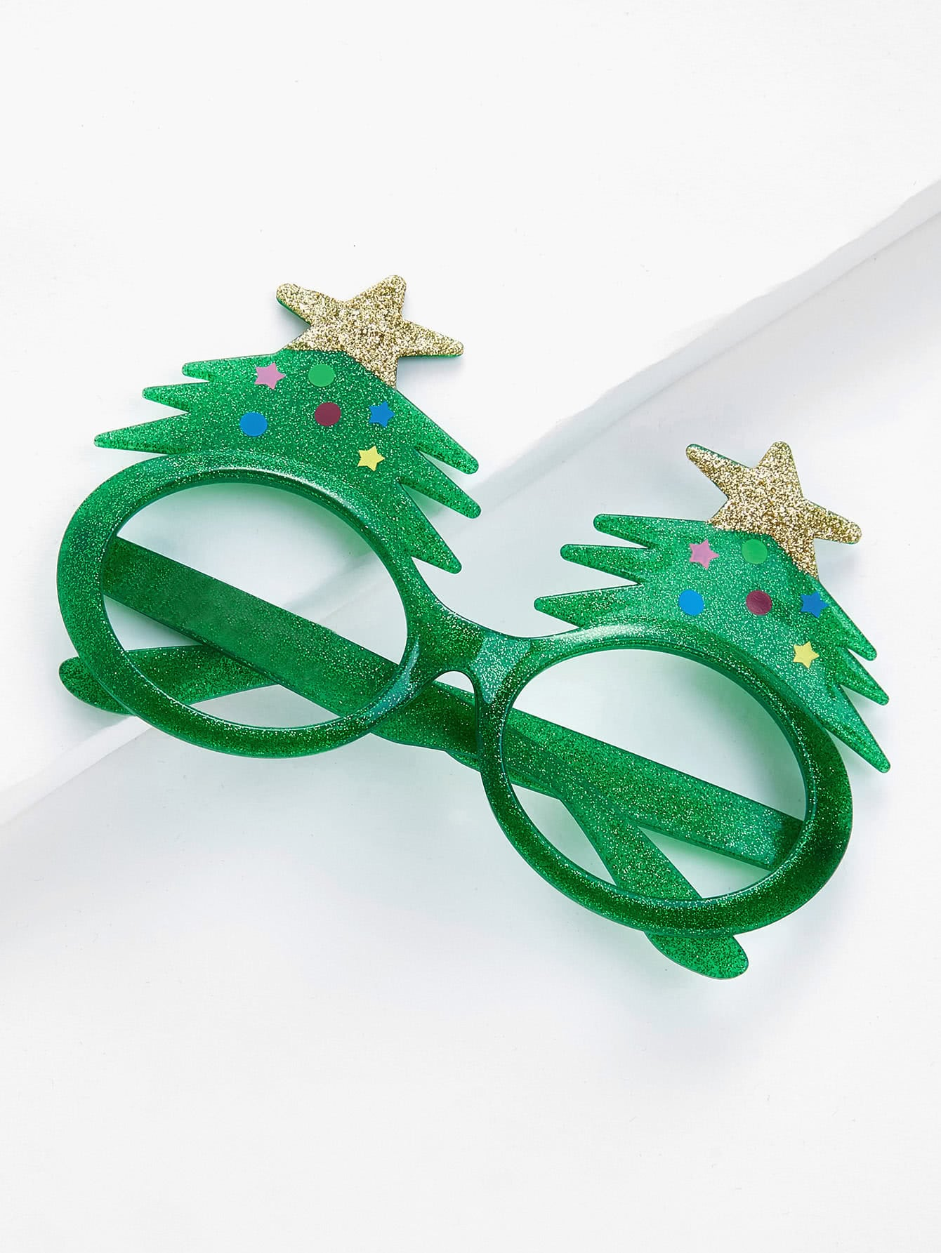 Christmas Tree Glitter Glasses Frame
