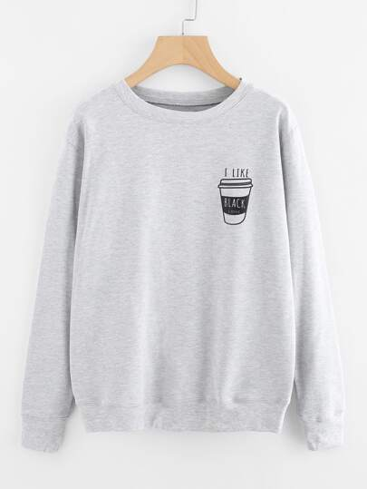 Coffee Print Sweatshirt