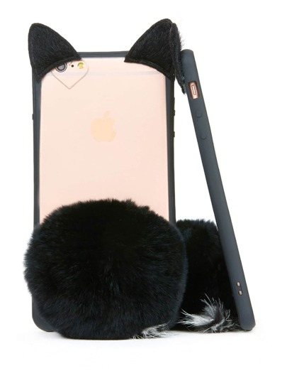 Coque d\'iPhone design du chat avec pompon