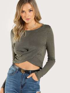 Bottom Wrap Top OLIVE