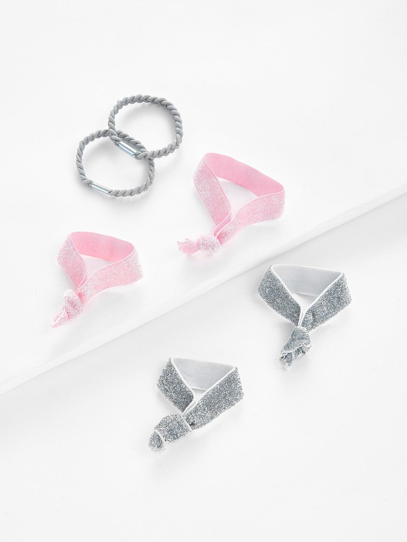 Glitter Knot Hair Tie 6pcs