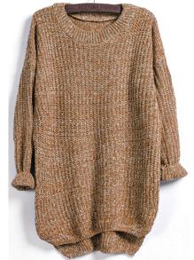 Dip Hem Marled Knit Jumper