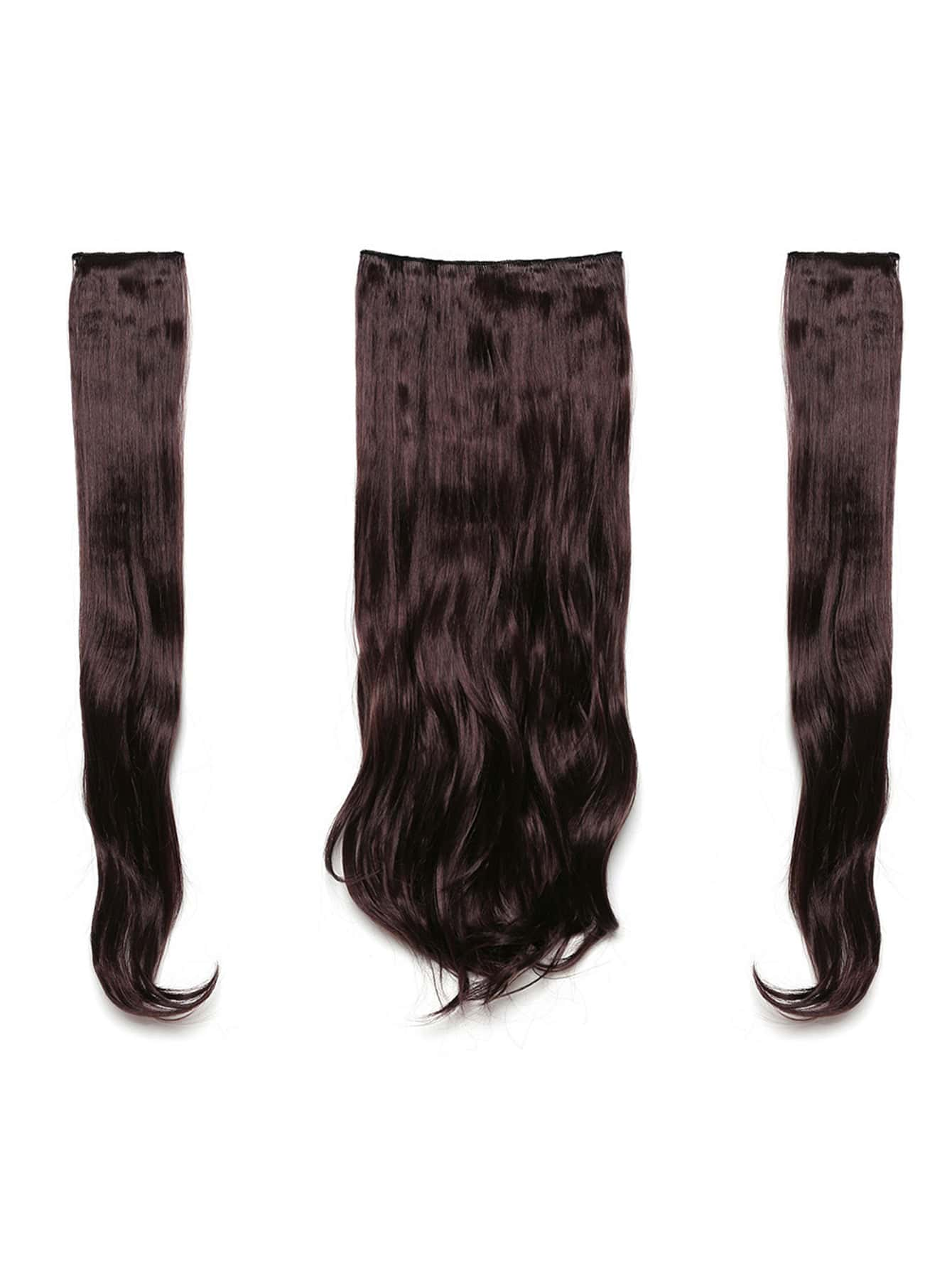 Plum Clip In Soft Wave Hair Extension 3pcs