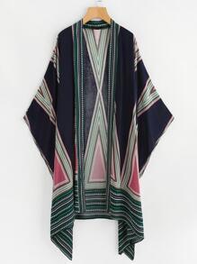 Kimono con estampado geométrico