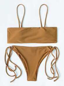 Ring Detail Strappy Bikini Set