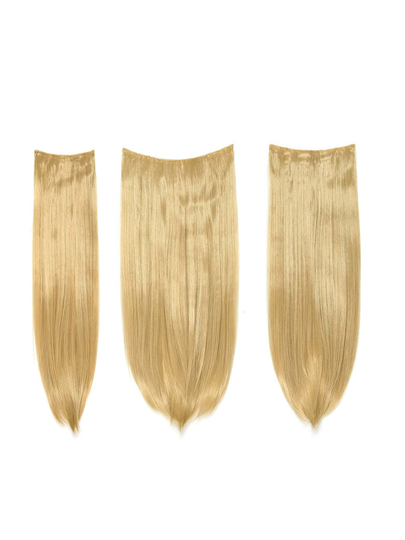 Golden Blonde Clip In Straight Hair Extension 3pcs