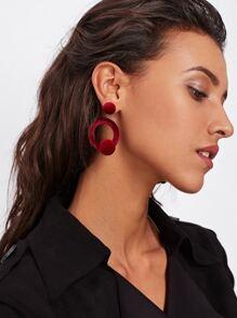Round Design Drop Earrings