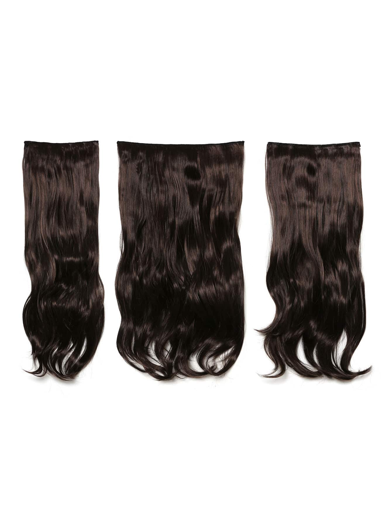 Image of Black Cherry Clip In Soft Wave Hair Extension 3pcs