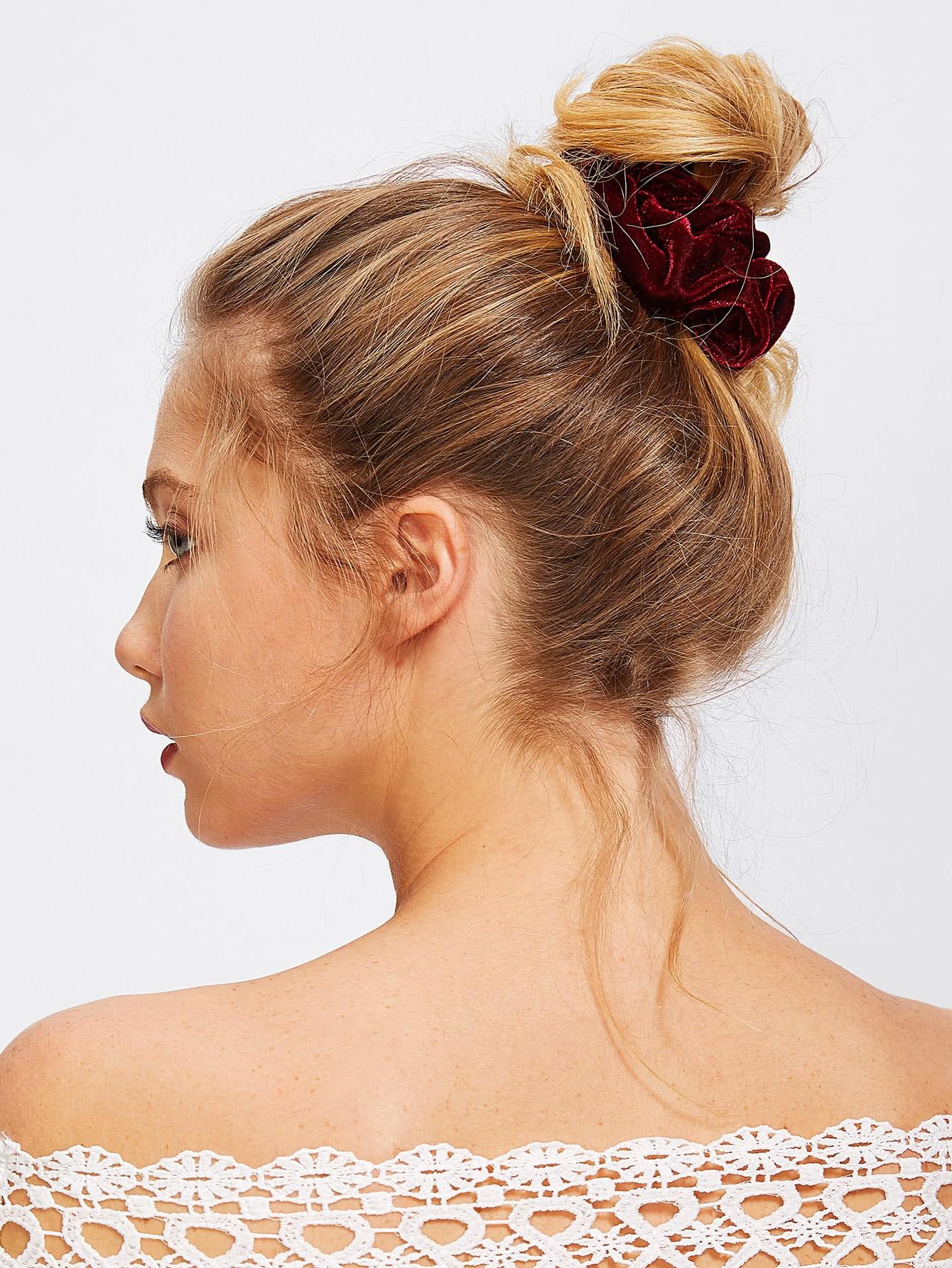Velvet Hair Tie hair tie 3pcs