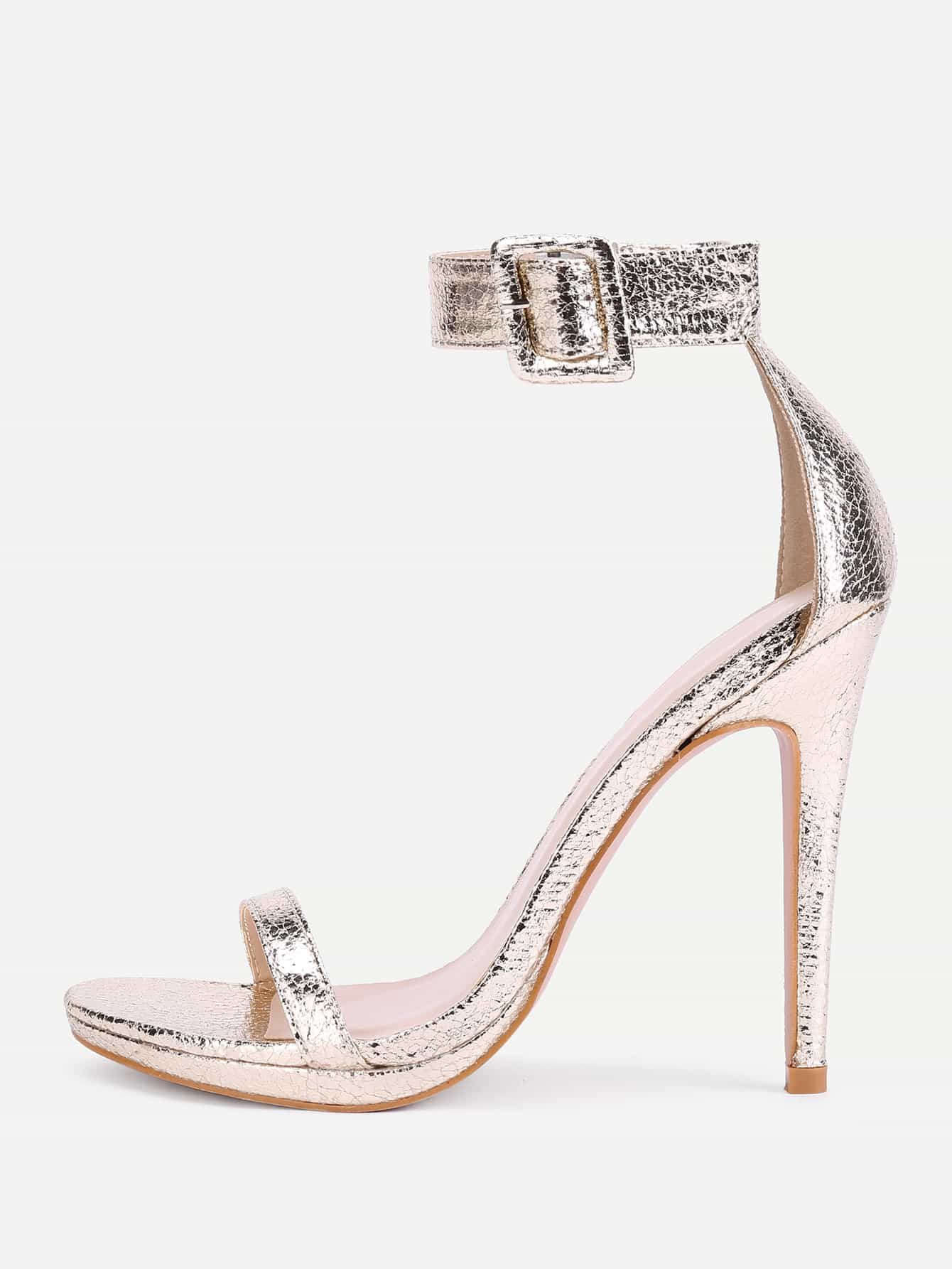 Two Part Ankle Strap Stiletto Sandals shoes171013360