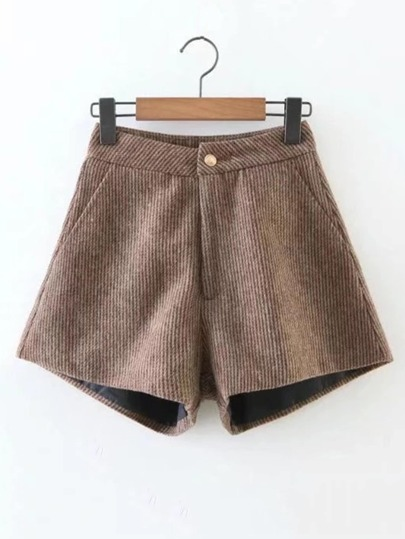 Ribbed Corduroy Shorts