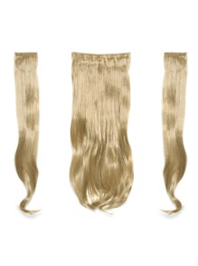 Golden Blonde Clip In Soft Wave Hair Extension 3pcs