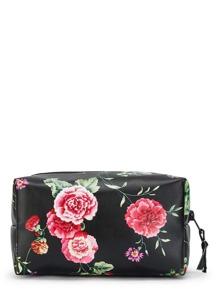Makeup Tasche mit Blumenmuster und Reißverschluss